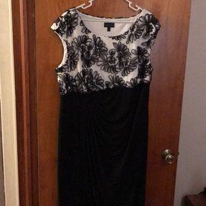Black and white full length dress